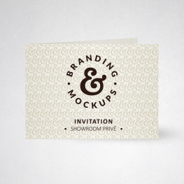 Carte d'invitation double tradition blanc naturel