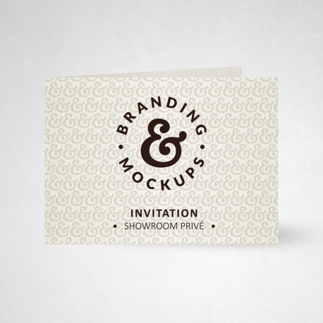 Carte d'invitation double tradition blanc naturel