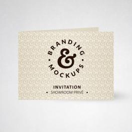 Carte d'invitation double tradition ivoire