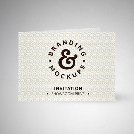 Carte d'invitation double design extra blanc