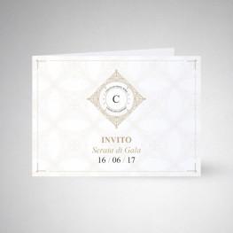 Carte d'invitation double Conqueror wove