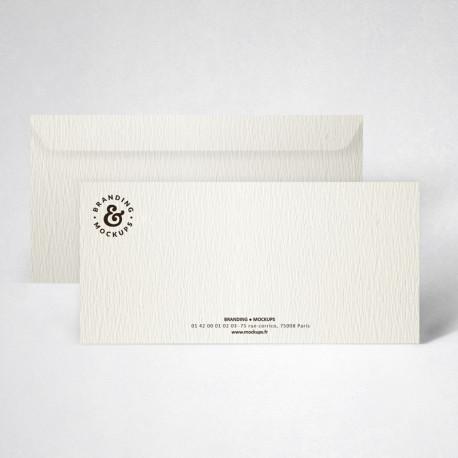 Pack carte de correspondance texturée blanc naturel