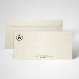 Pack carte de correspondance texturée ivoire