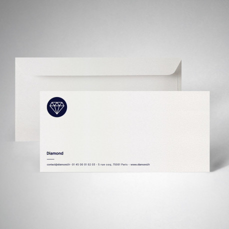 Pack carte de correspondance metallics cryogen blanc