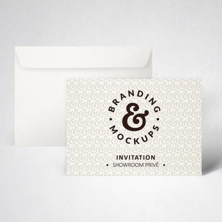 Pack carte d'invitation texturée extra blanc