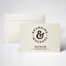 Pack carte d'invitation texturée blanc naturel