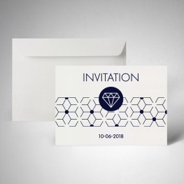 Packs cartes d'invitation metallics cryogen blanc