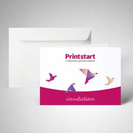 Pack carte invitation double standard