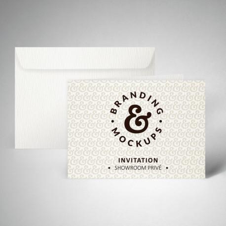 Pack carte d'invitation double texturée extra blanc