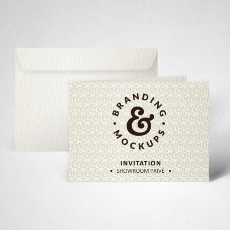 Packs cartes d'invitation doubles texturées