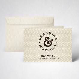 Pack carte d'invitation double texturée ivoire