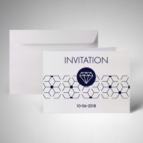 Pack carte d'invitation doubles metallics perle akoya