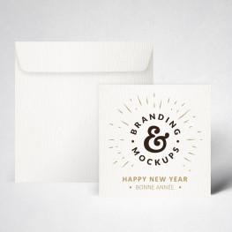 Pack cartes de voeux texturée extra blanc
