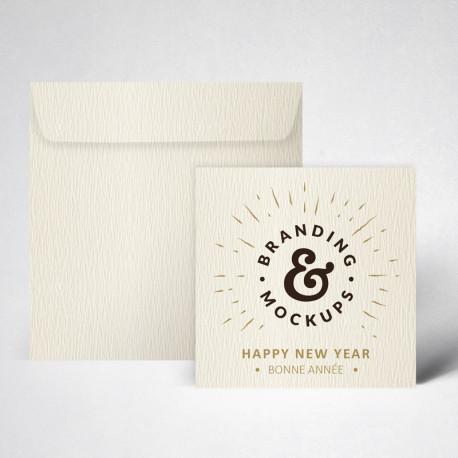 Pack carte de voeux texturée ivoire