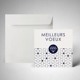 Pack carte de voeux metallics cryogen blanc