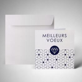 Pack carte de voeux double metallics perle akoya