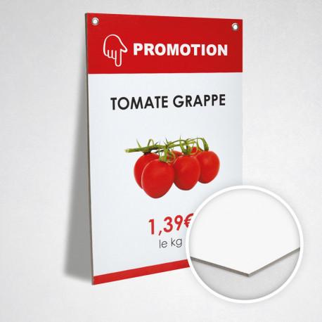 Carton publicitaire 2 mm