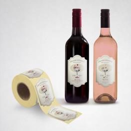 Etiquettes pour bouteilles - Colle permanente