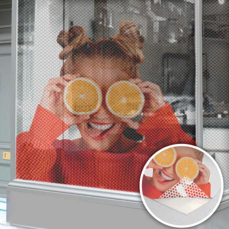 Vinyle micro perforé transparent