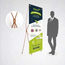 X-banner 70 x 180 cm bambou