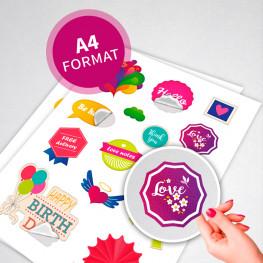 Stickers en planche A4