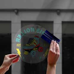 stickers vitrophanie transparent