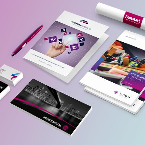 Cartes, flyers, plaquettes, brochures...
